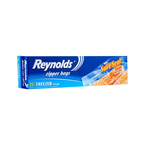 Reynolds Zipper Bags Large Freezer (15s)