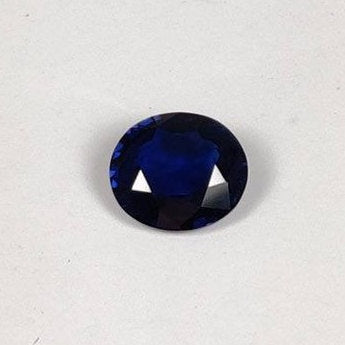 1.40 cts Unheated Natural Blue Sapphire Loose Gemstone Oval Cut Certified
