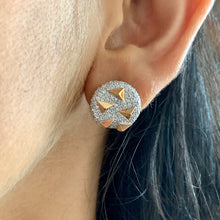 Load image into Gallery viewer, 1.71 ctw Round Brilliant Natural Diamond Earring | 18K Rose Gold & White Gold | Classic Studs