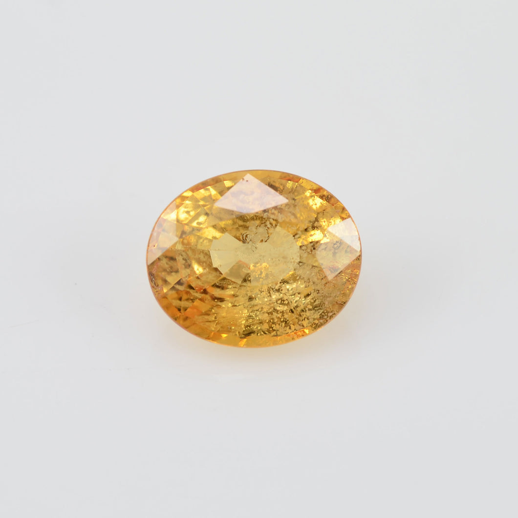 1.73 cts Natural Yellow Sapphire Loose Gemstone Oval Cut
