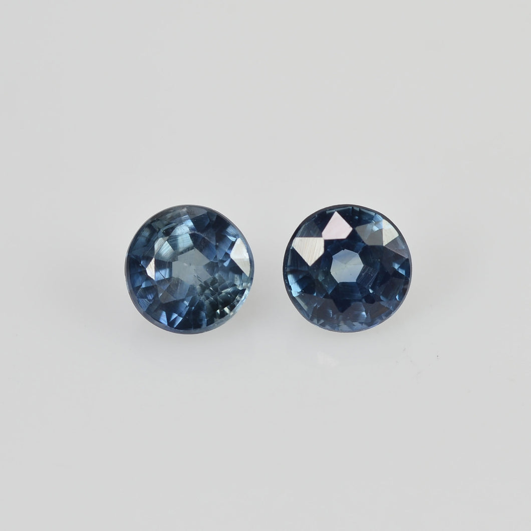 4.00 mm Natural Blue Sapphire Loose Pair Gemstone Round Cut