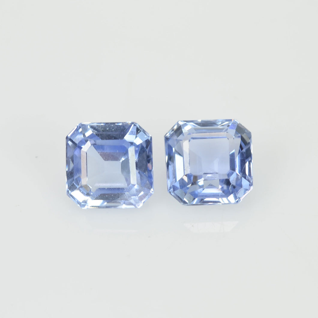 1.50 Cts  Natural Blue Sapphire Loose Pair Gemstone Octagon Cut