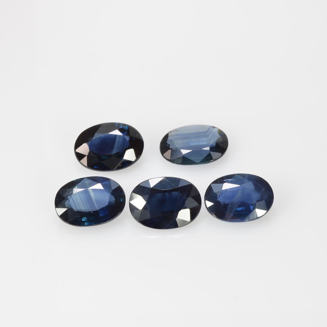 7x5 Natural Calibrated Sri Lanka Blue Sapphire Loose Gemstone Oval Cut