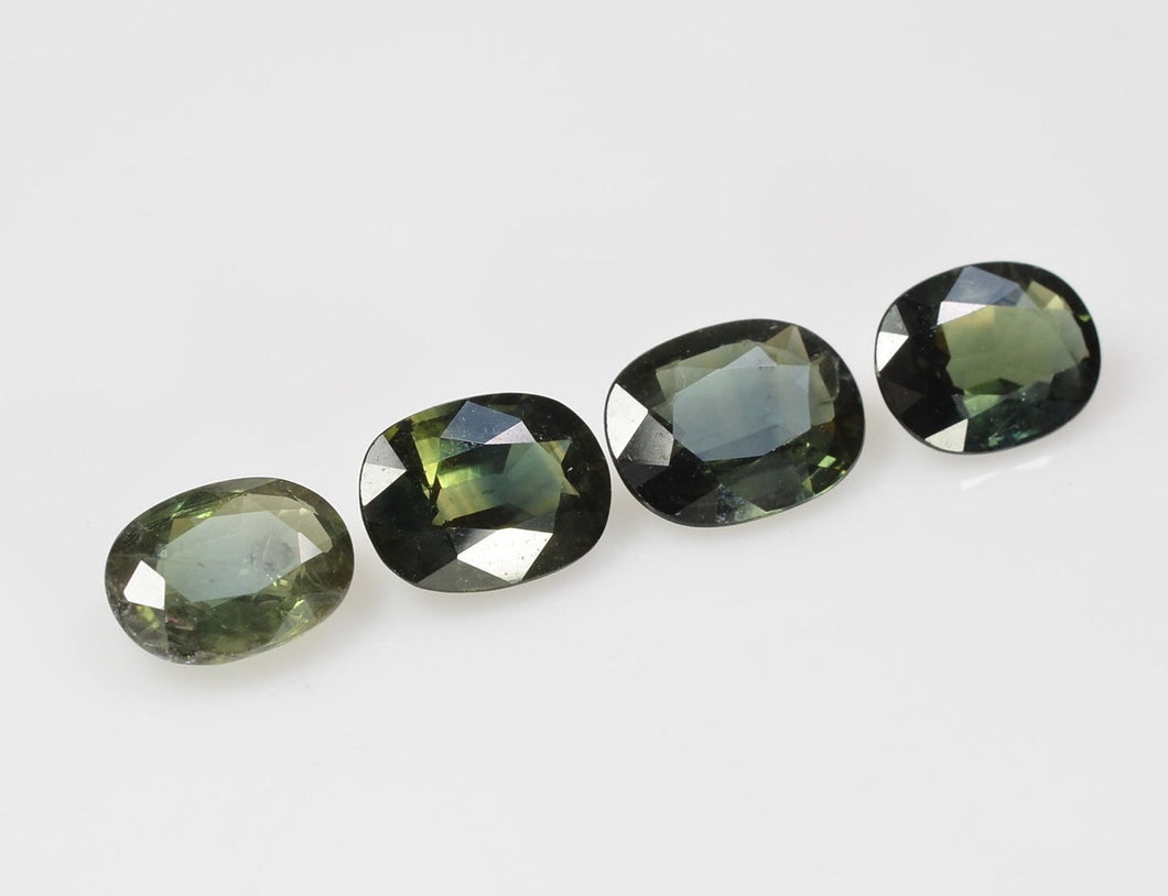 8x6 mm Natural Calibrated Green Sapphire Loose Gemstone Oval Cut
