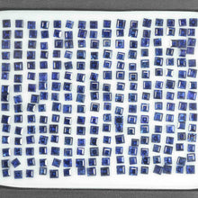 Load image into Gallery viewer, 2.3-2.8 mm Natural Calibrated Blue Sapphire Loose Gemstone Square Cut