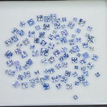 Load image into Gallery viewer, 1.6 - 3.9 MM  Natural Princess Cut Blue Sapphire Loose Gemstone