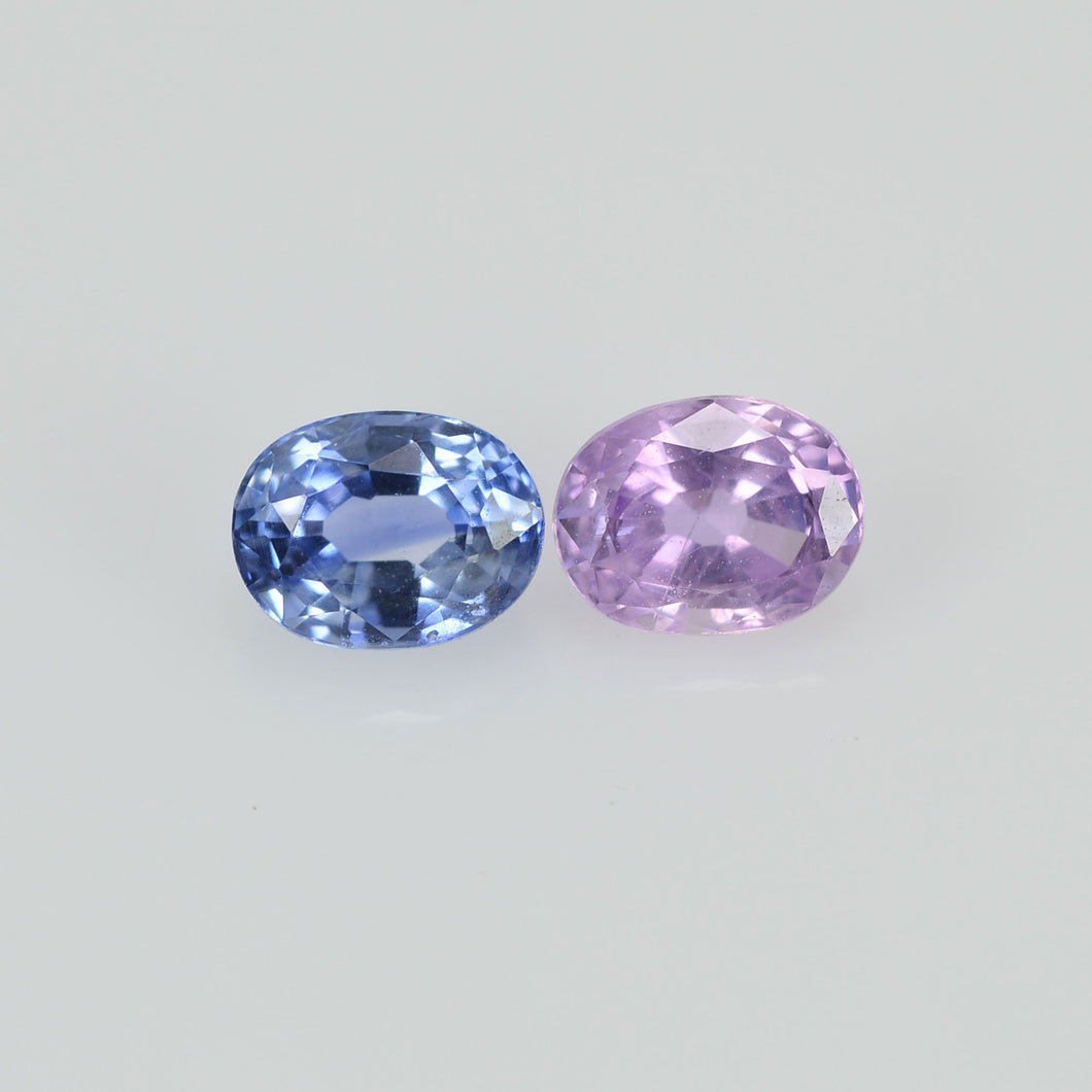 0.63 cts Natural Fancy Sapphire Loose Pair Gemstone Oval Cut