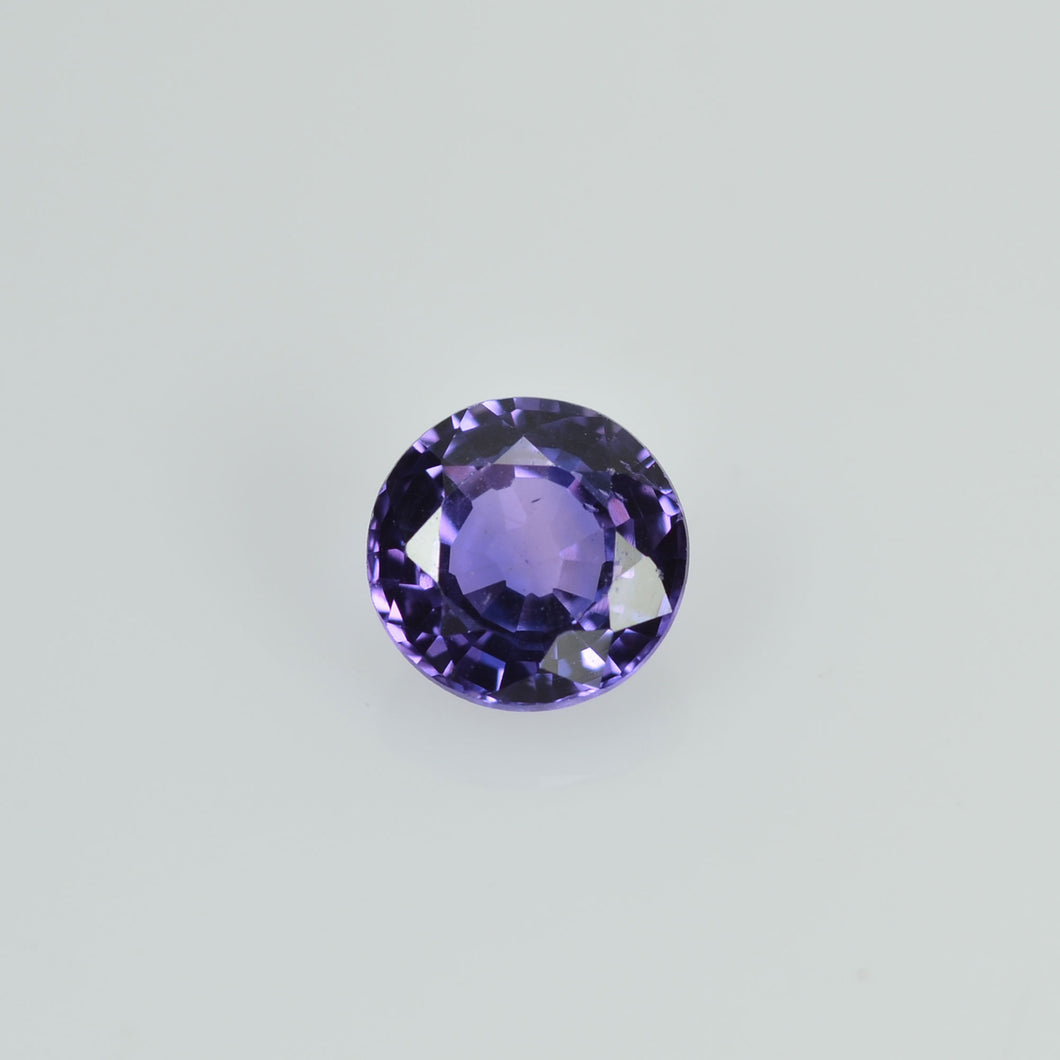 0.38 cts Natural Purple Sapphire Loose Gemstone Round Cut