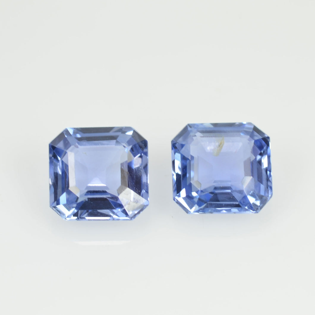 1.80 Cts  Natural Blue Sapphire Loose Pair Gemstone Octagon Cut