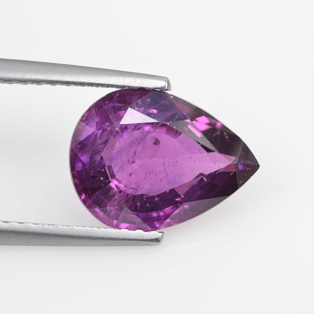 3.43 cts Natural Fancy Pink Sapphire Loose Gemstone Pear Cut