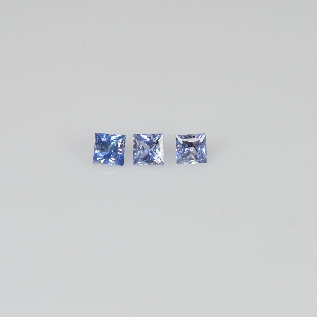 1.6 - 3.9 MM  Natural Princess Cut Blue Sapphire Loose Gemstone