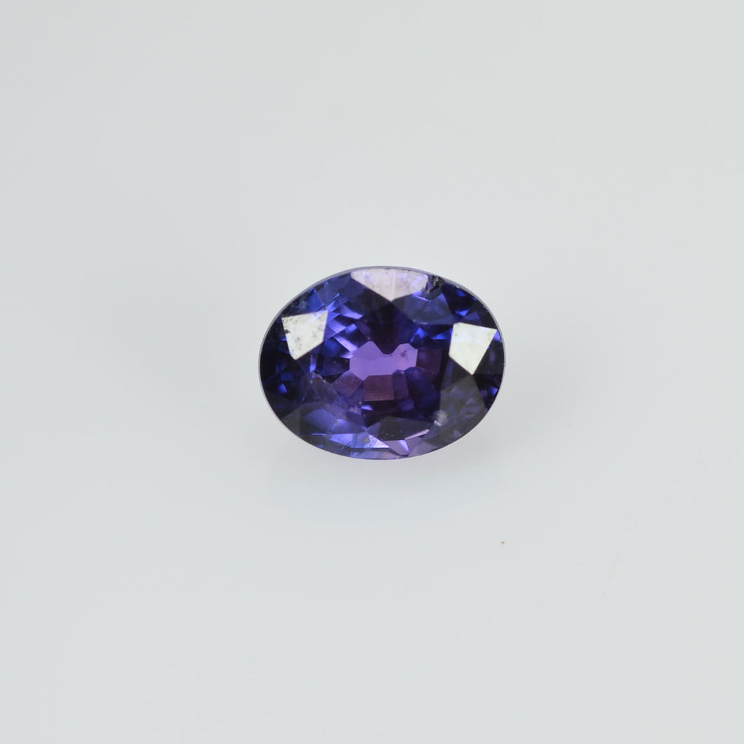 0.41 cts Natural Purple Sapphire Loose Gemstone Oval Cut