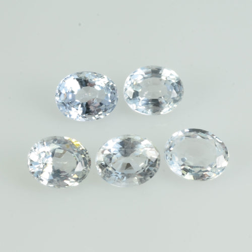 5X4 Natural White Sapphire Loose  Gemstone Oval Cut