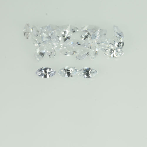 4x2 mm Natural White Sapphire Loose Gemstone Marquise Cut