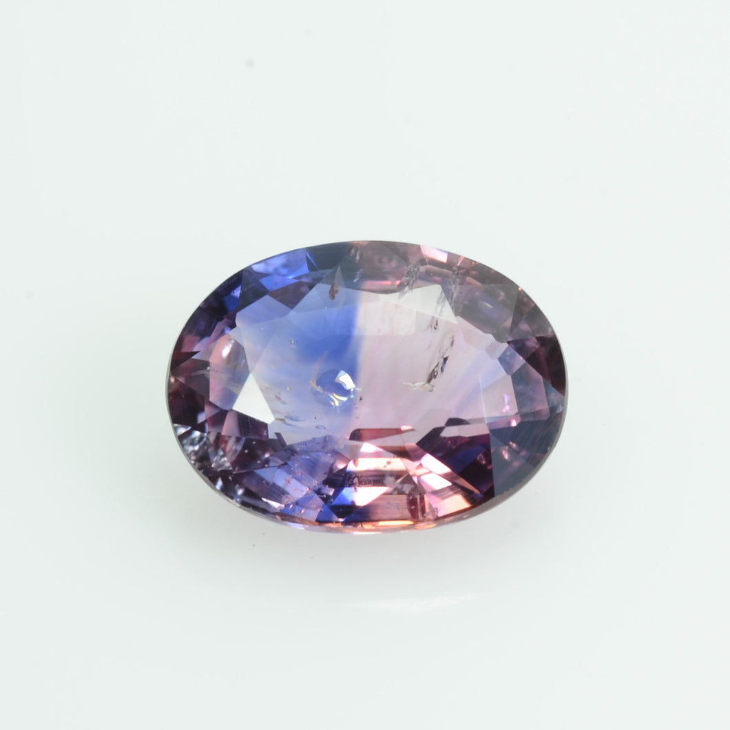 1.83 cts Natural Fancy Bi-Color Sapphire Loose Gemstone oval Cut