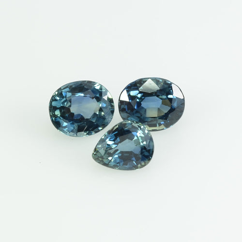 6x5 Natural Calibrated Blue Sapphire Loose Gemstone Oval Cut