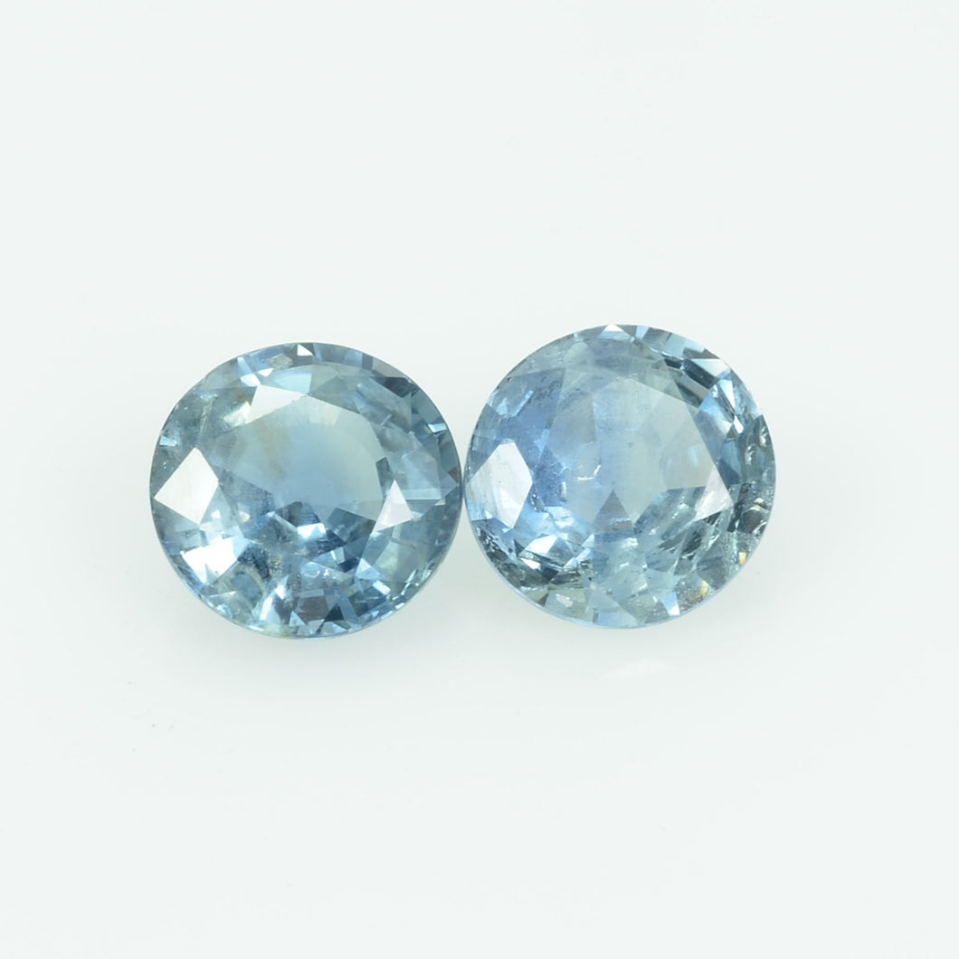 6.00 MM Natural Blue Sapphire Loose Pair Gemstone Round Cut
