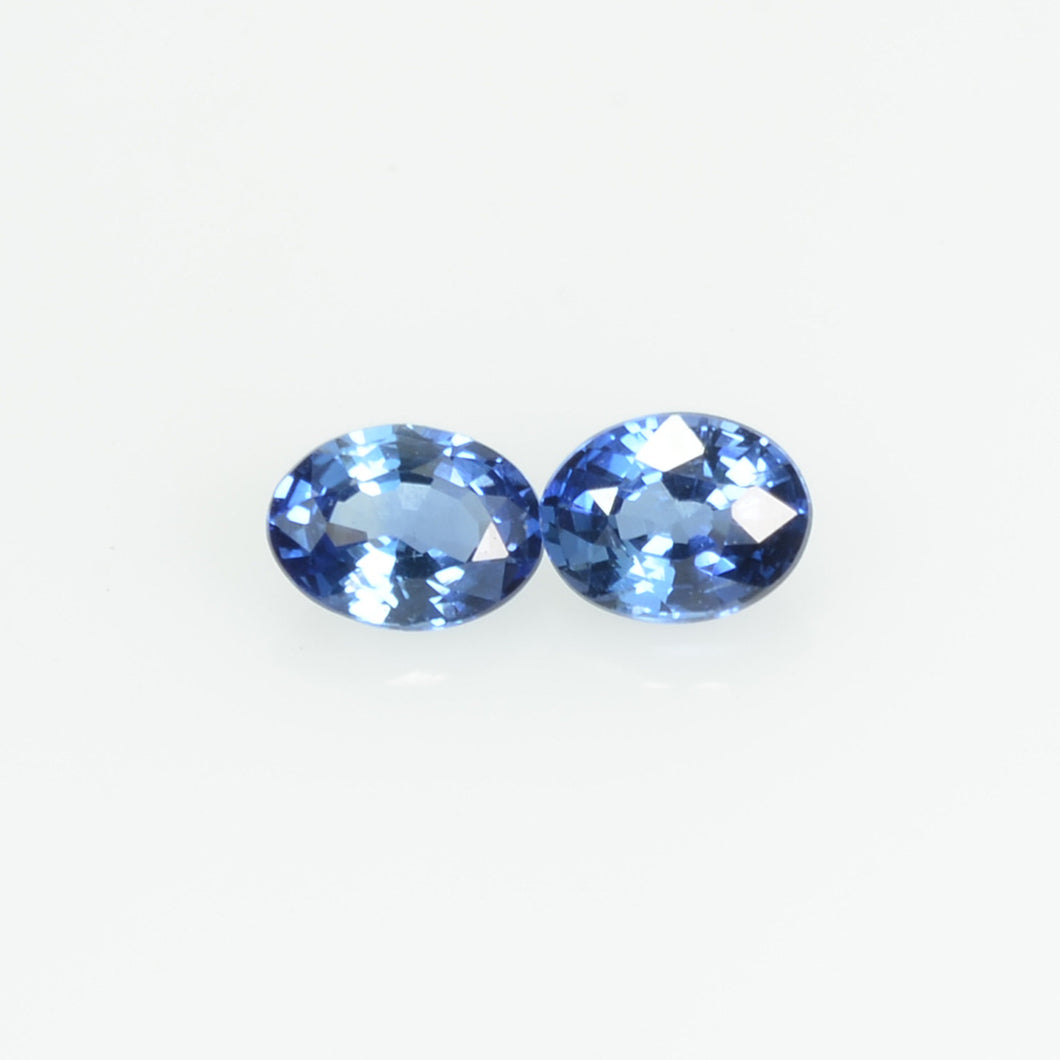 0.38 cts Natural Blue Sapphire Loose Pair Gemstone Oval Cut