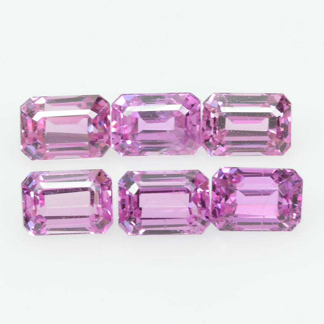 5x3.5 Natural Pink Sapphire Loose Gemstone Octagon Cut