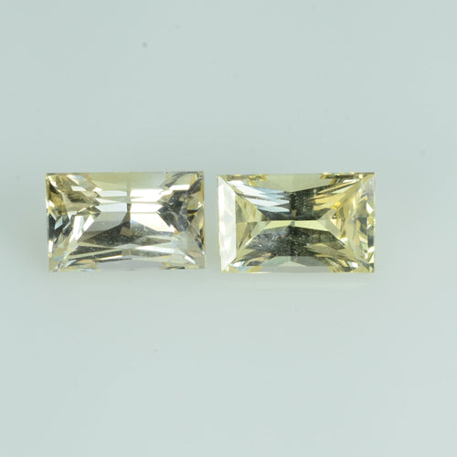 1.34 Cts Natural Fancy Sapphire Loose Pair Gemstone Square Baguette Cut