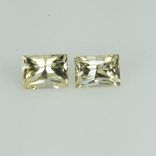 1.26 Cts Natural Fancy Sapphire Loose Pair Gemstone Square Baguette Cut