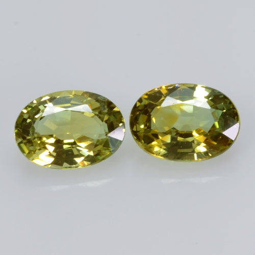 2.14 Cts Natural Fancy Sapphire Loose Pair Gemstone Oval Cut
