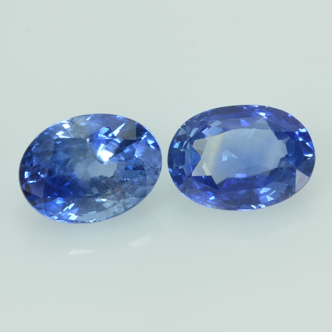 7x5 mm  Natural Blue Sapphire Loose Pair Gemstone Oval Cut