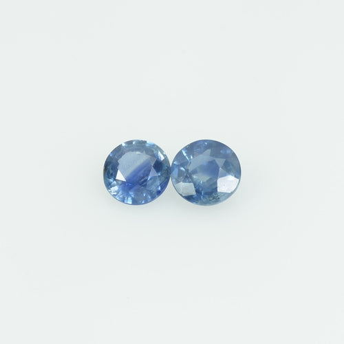 3.7 mm Natural Blue Sapphire Loose Gemstone Round Cut
