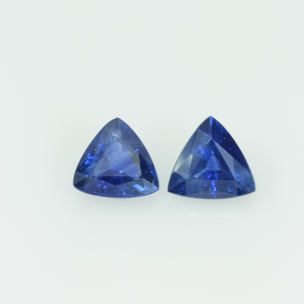 1.00 cts Natural Blue Sapphire Loose Gemstone Trillion Cut Pair