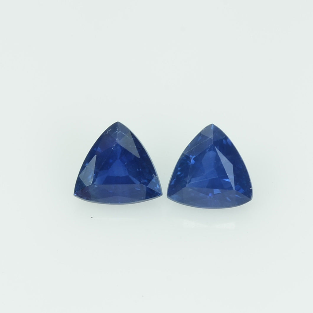 1.03 cts Natural Blue Sapphire Loose Gemstone Trillion Cut Pair