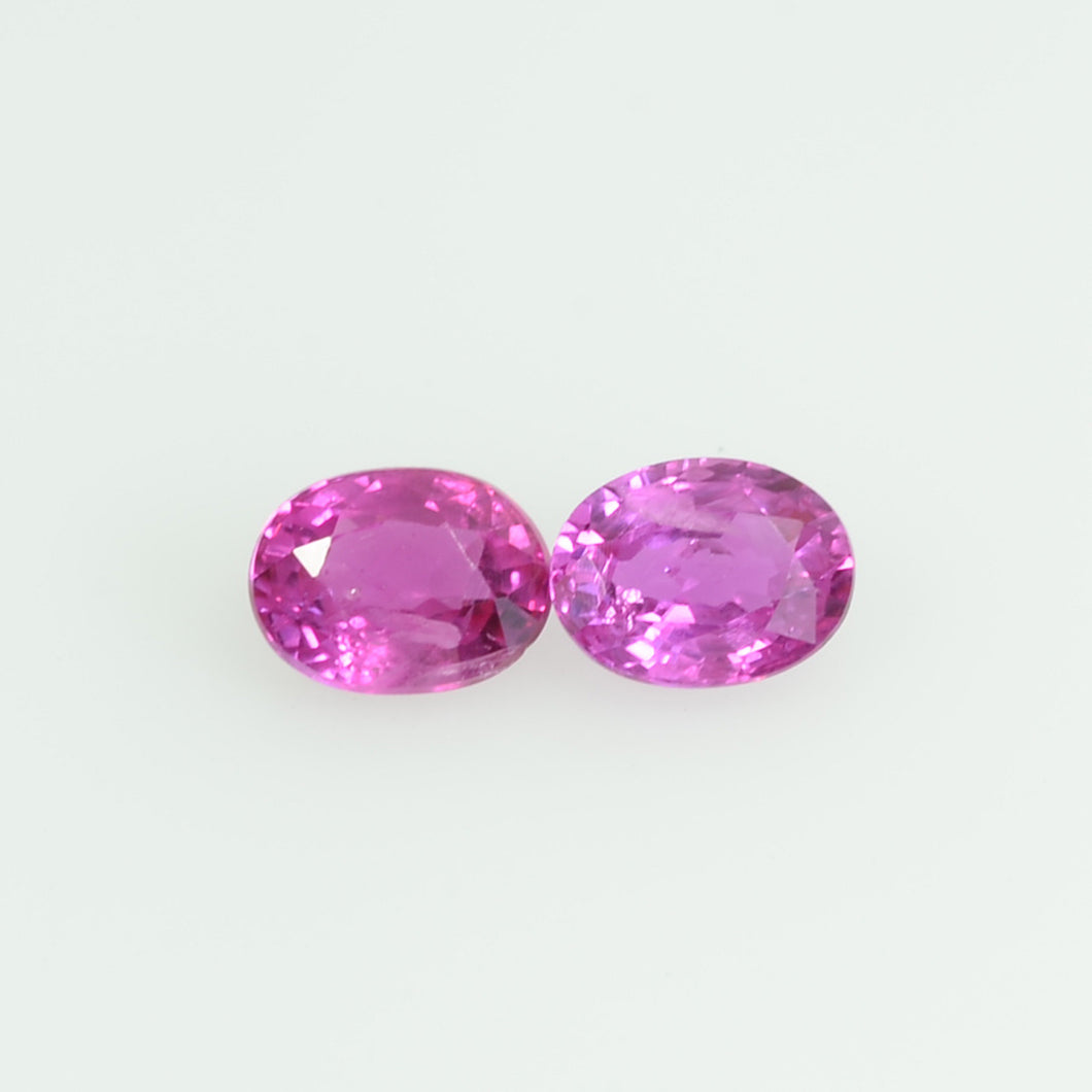 4x3 mm  Natural  Pink Sapphire Loose Gemstone oval Cut