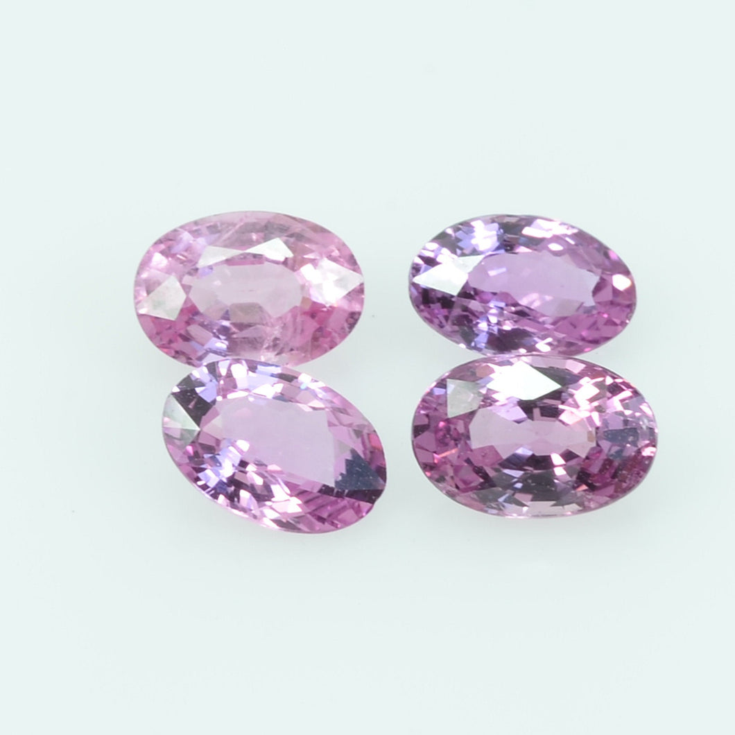 6x4 Natural  Pink Sapphire Loose Gemstone oval Cut