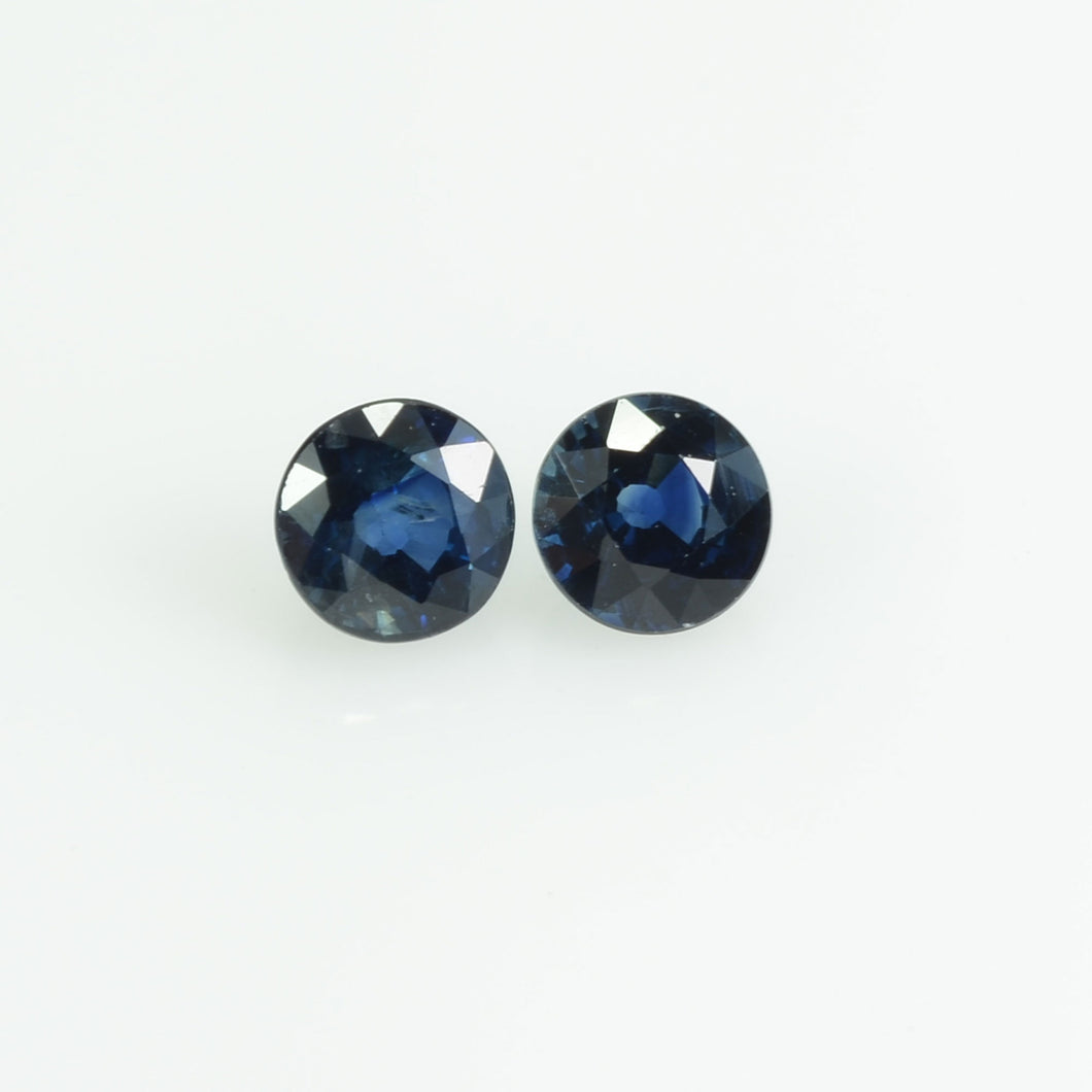 4.3 mm Natural Blue Sapphire Loose Gemstone  Round Cut