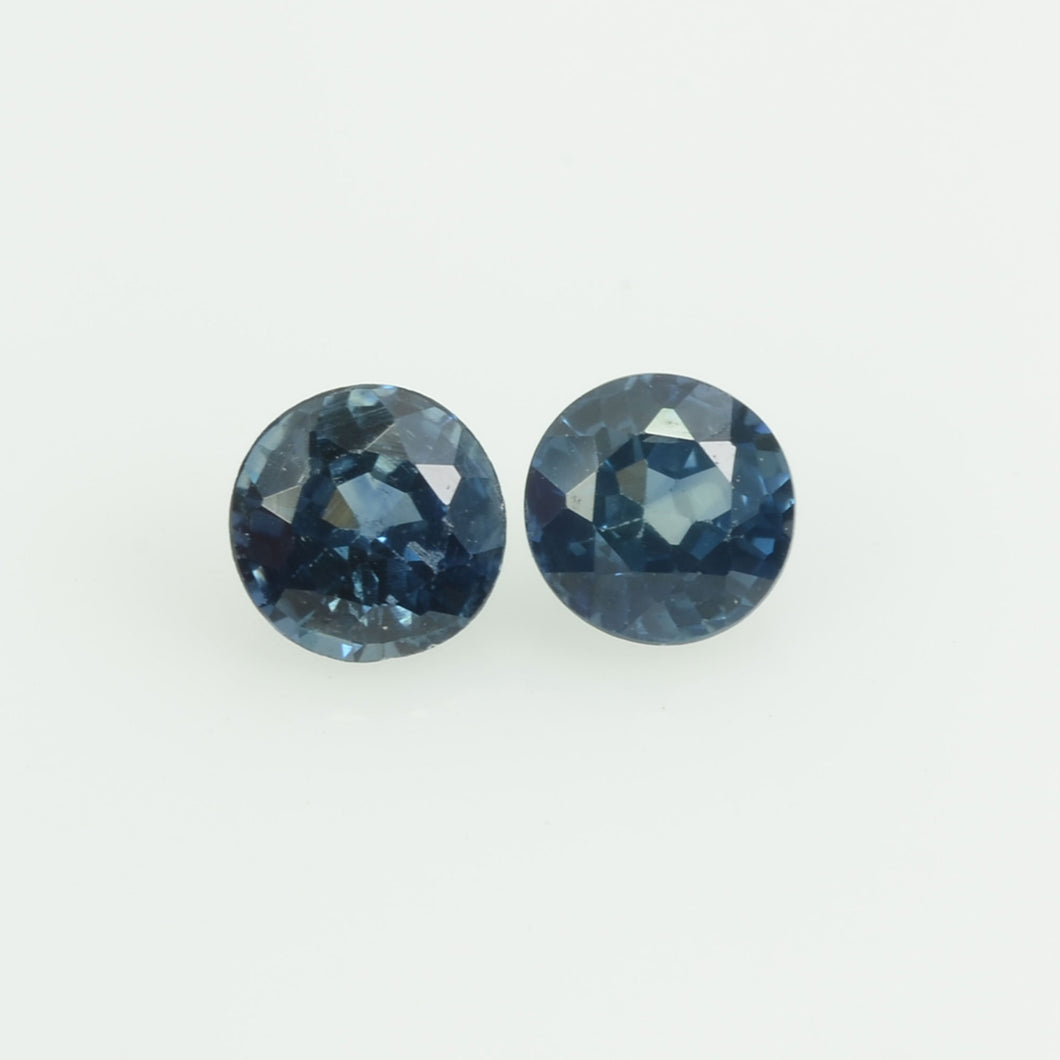3.4 mm  Natural Blue Sapphire Loose Gemstone Round Cut