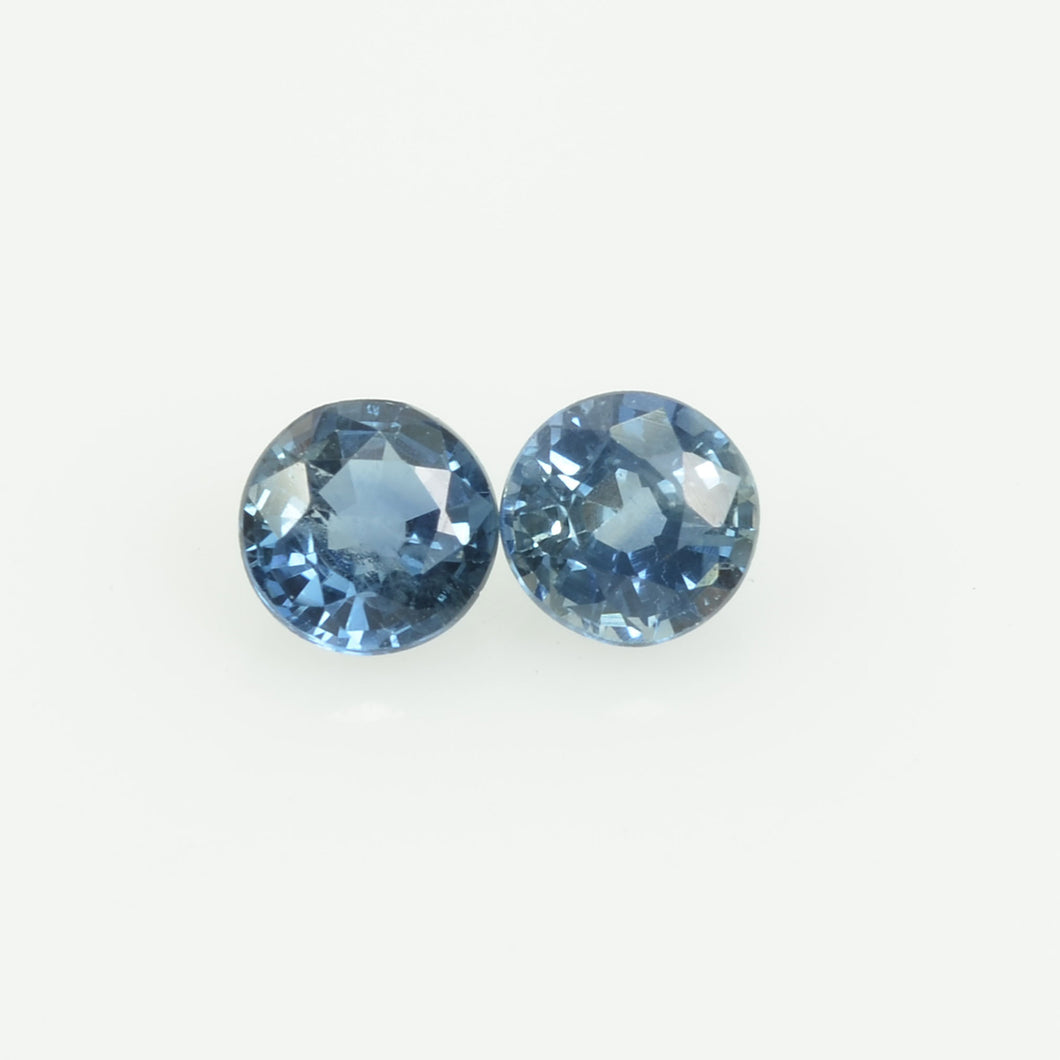 3.3 mm Natural Blue Sapphire Loose Gemstone Round Cut
