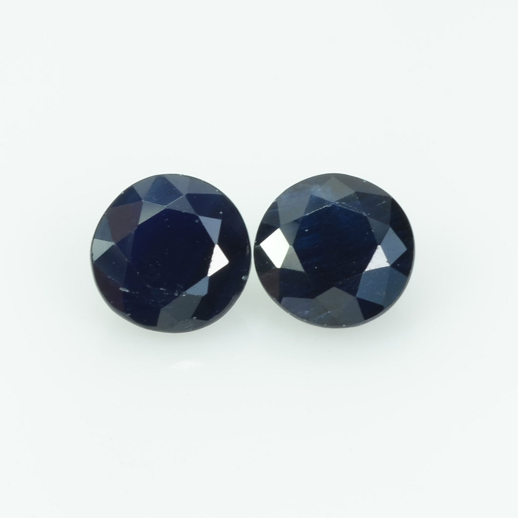 6 mm Natural Blue Sapphire Loose Gemstone Round Cut