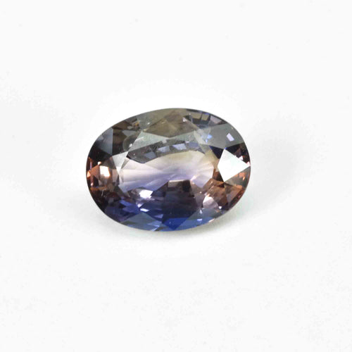 3.19 Cts Natural Bi-Color Sapphire Loose Gemstone Oval Cut