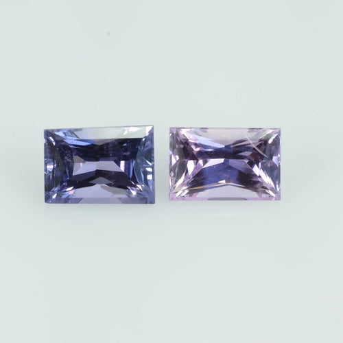 1.28 Cts Natural Fancy Sapphire Loose Pair Gemstone Square Baguette Cut