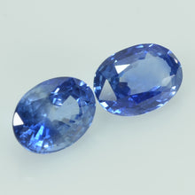 Load image into Gallery viewer, 7x5 mm  Natural Blue Sapphire Loose Pair Gemstone Oval Cut