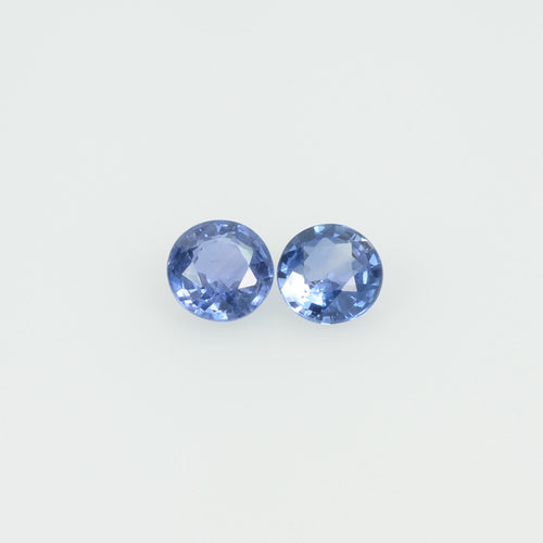3.5 mm Natural Blue Sapphire Loose Gemstone Round Cut