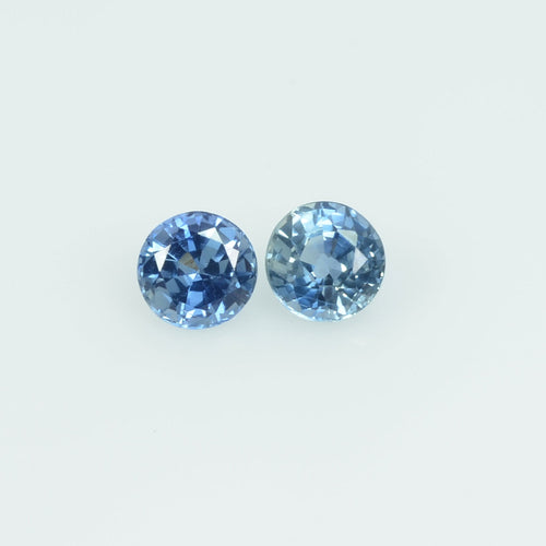 4 mm Natural Blue Sapphire Loose Gemstone Round Cut