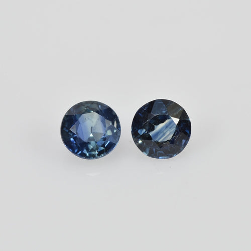 3 mm Natural Blue Sapphire Loose Gemstone Round Cut
