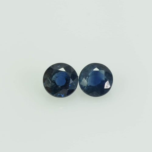 3.5-3.6 mm Natural Blue Sapphire Loose Gemstone Round Cut