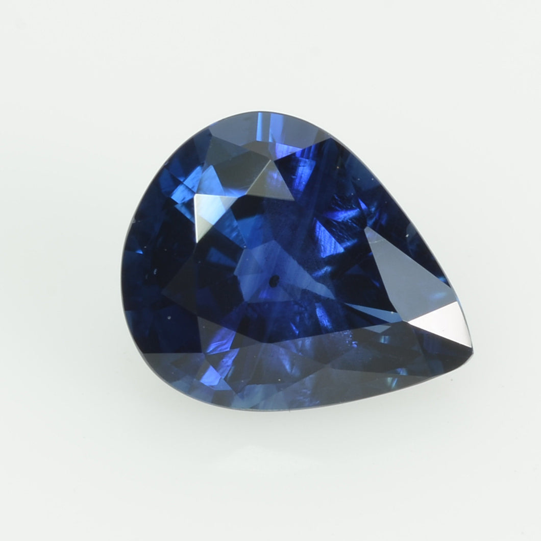 0.94 cts natural blue sapphire loose gemstone pear cut