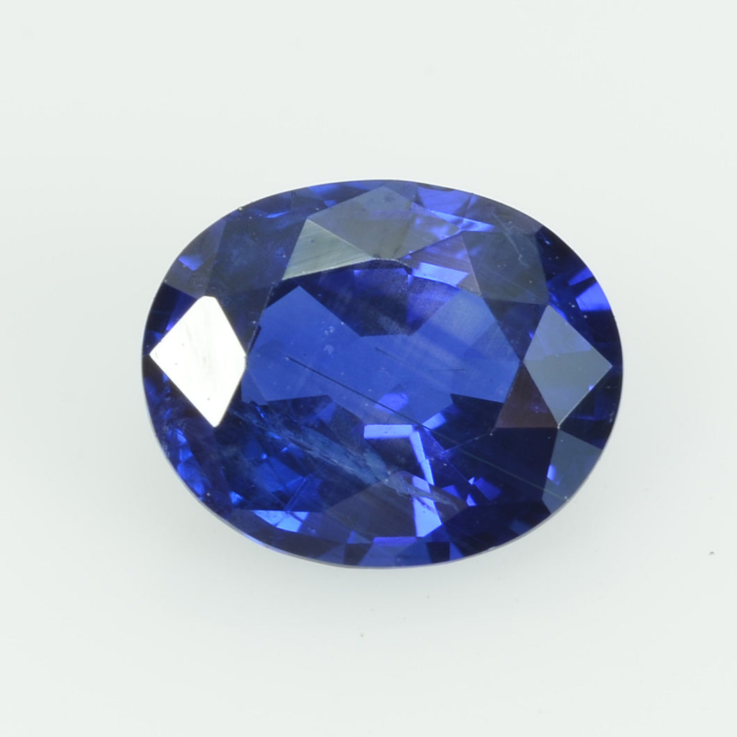 0.89 cts natural blue sapphire loose gemstone oval cut AGL Certified
