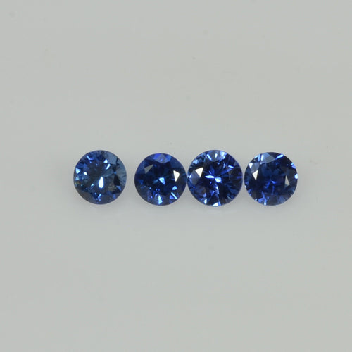3.0-4.0 mm Natural Blue Sapphire Loose Gemstone Round Diamond Cut Vs Quality Color