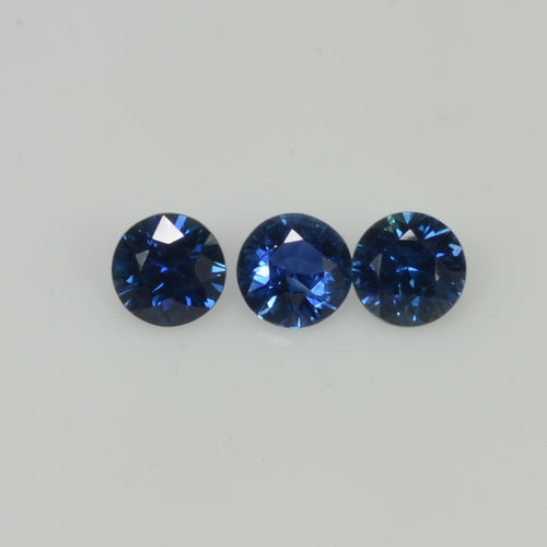 4.5-5.5 mm Natural Blue Sapphire Loose Gemstone Round Diamond Cut Vs Quality Color