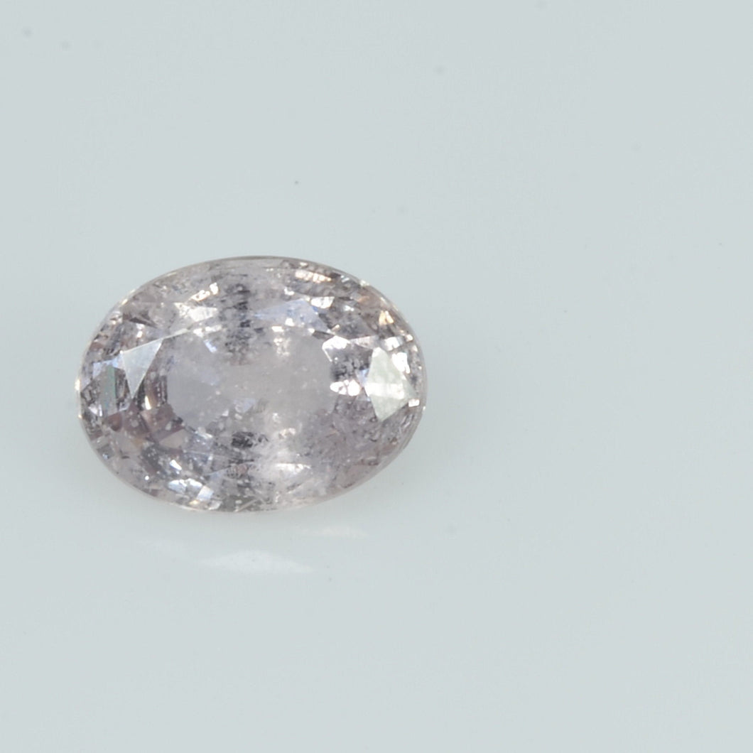 0.83 Cts Natural White Sapphire Loose Gemstone Oval Cut