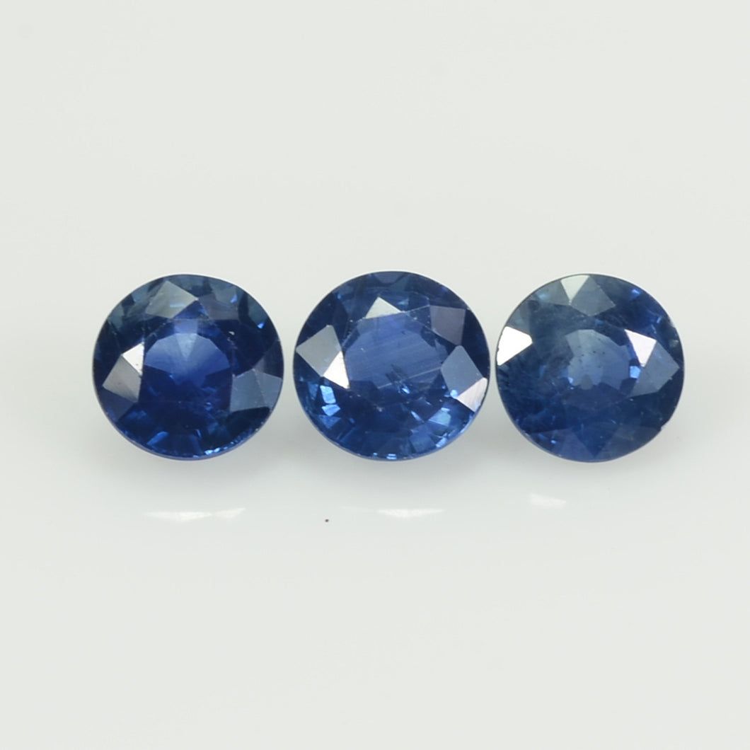 4.2-5.3  MM Natural Blue Sapphire Loose Gemstone Round Cut