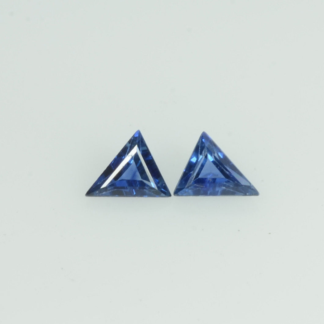4x3 mm Natural Blue Sapphire Loose Gemstone Triangle Cut Pair